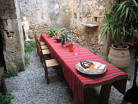 dining table in Crete