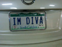 license plate with IM DIVA